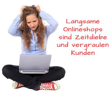 Onlineshop Ladezeiten