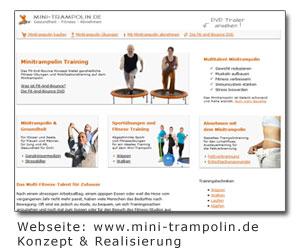 Mini-Trampolin Webseite