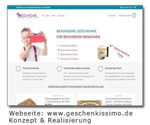 Geschenkissimo Webseite