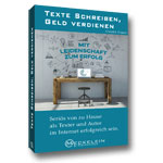 Texte schreiben, Geld verdienen Buchabbildung in 3D